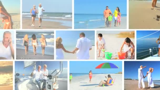 Lifestyle Montage of Enjoying Vacation Activities