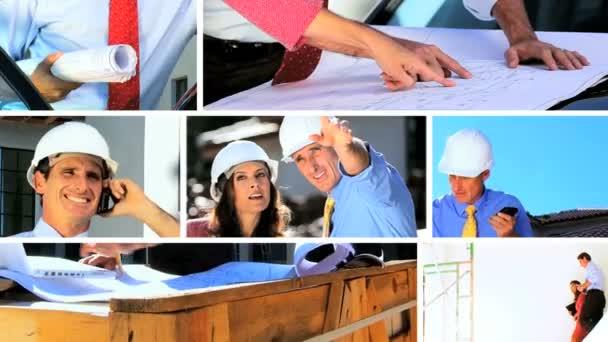 Montage of Architect Showing Client Building Progress