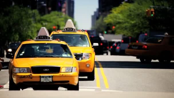 Yellow Cabs  City Traffic New York City, USA