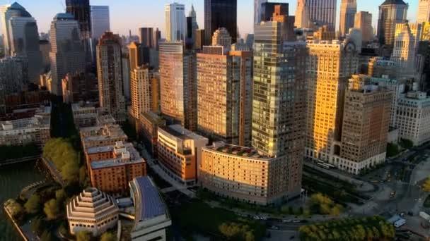 Letecký pohled na new york a kultovní obzoru, manhattan, Amerika, usa