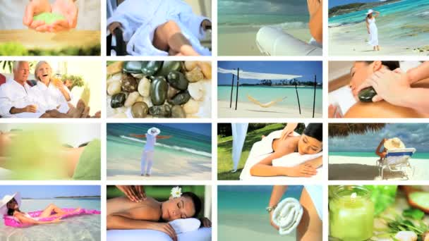 Montage of Spa Treatment  Relaxation
