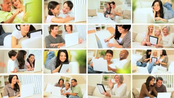 Montázs az otthoni vezeték nélküli technológia