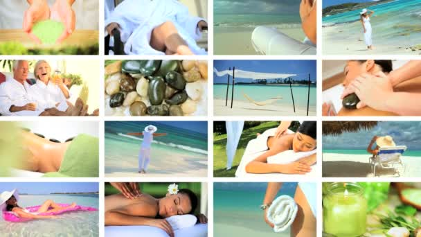 Montage of Relaxation  Spa Treatment