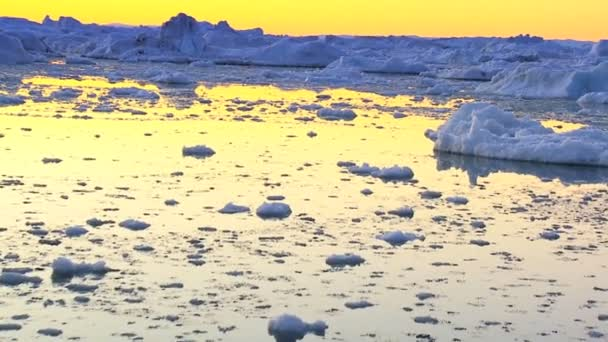 Sun Setting over Glacaial Ice