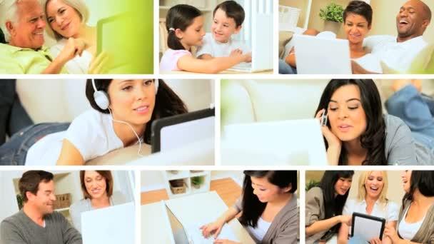 Sestřih z moderní bezdrátové technologie používané v domácnostech