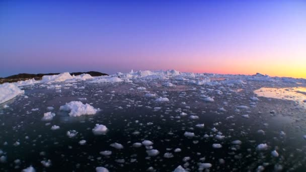 Arctic Sunset in Wide Angle