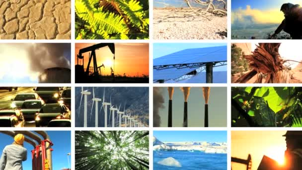 Montage Contrasting the Effects of Natural  Fossil Fuel Production