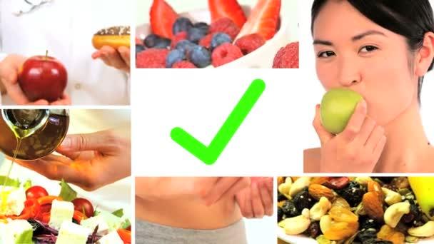 Sestřih z čerstvé zdravé volby potravin