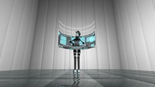 Futuristic Robot Using Touchscreen Technology