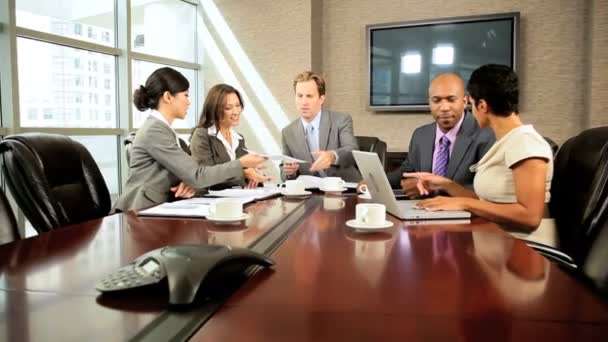 Multi Ethnic Business Team Meeting in Boardroom