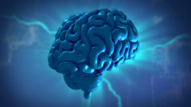 3D Motion Graphic of a Human Brain