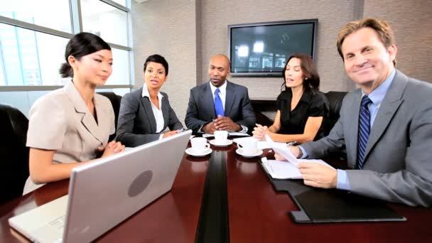 Fotografie Geschäft in Videokonferenz treffen