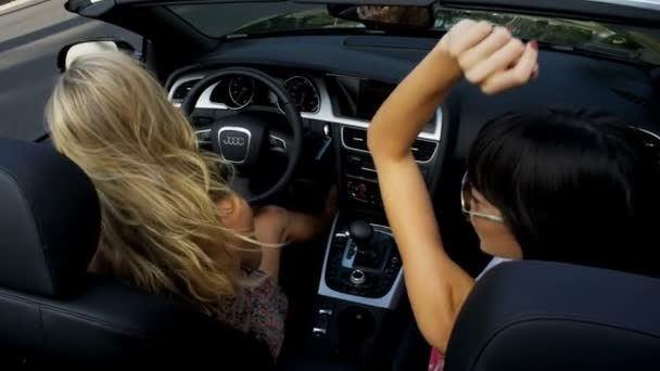 Young Girls Driving In Open Top Car Stock Video C Spotmatik 23703901
