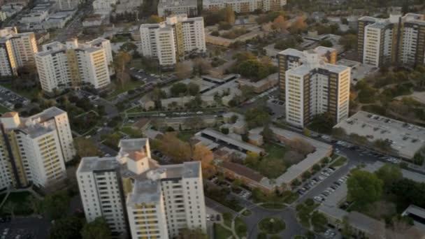 vzdušné město pohled rezidenční čtvrti, usa