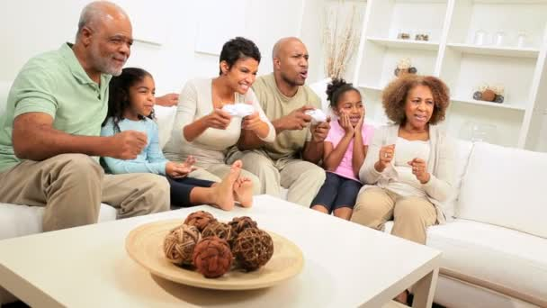 African American Family Hand Held Games Entertainment