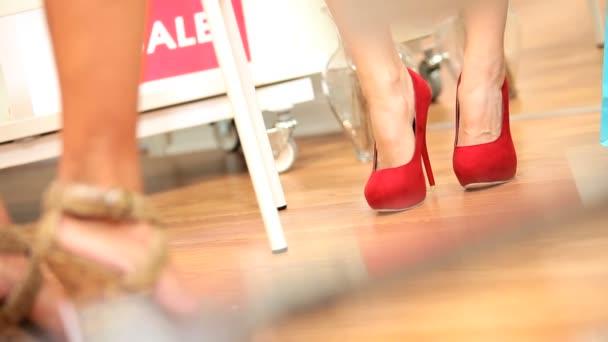 Lábak nőstények kipróbálás Boutique cipő