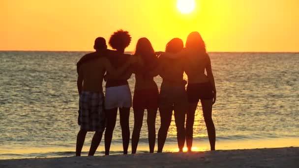 adolescenti avendo divertimento sulla spiaggia