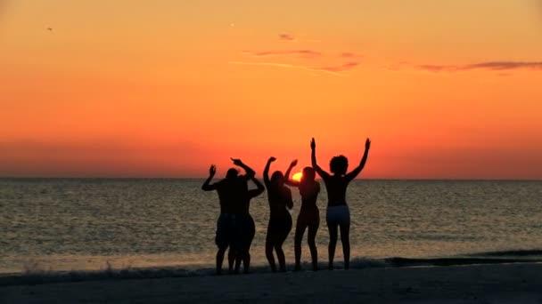 Teenageři se těší plážové párty