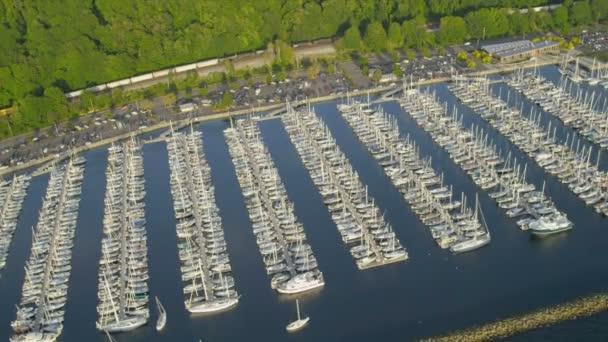 Letecký pohled na jezero washington průplav, seattle