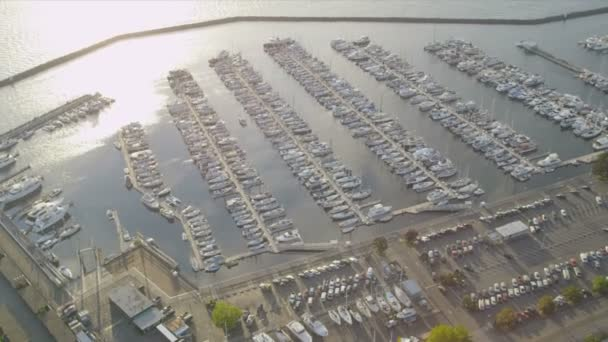Letecký pohled na lodní přístaviště, losos Bay, seattle, usa