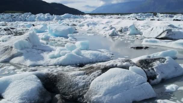 ghiacciaio di knik veduta aerea, alaska, usa