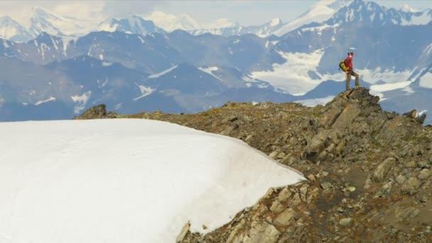 Climber at remote wilderness,  Alaska