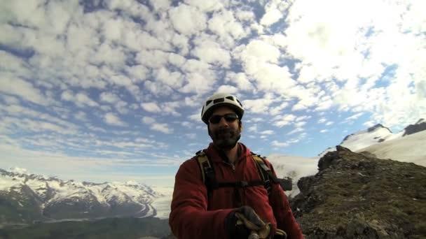 horolezec manévrování s videokamerou