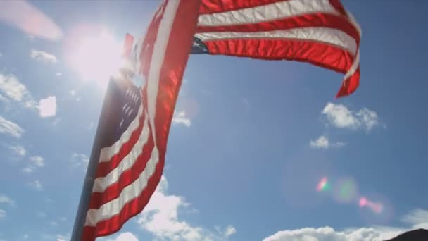 USA flag at Arctic Circle