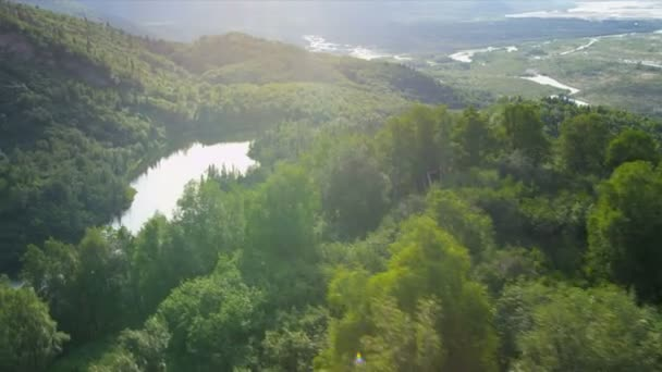 Horská údolí a jehličnatých lesů