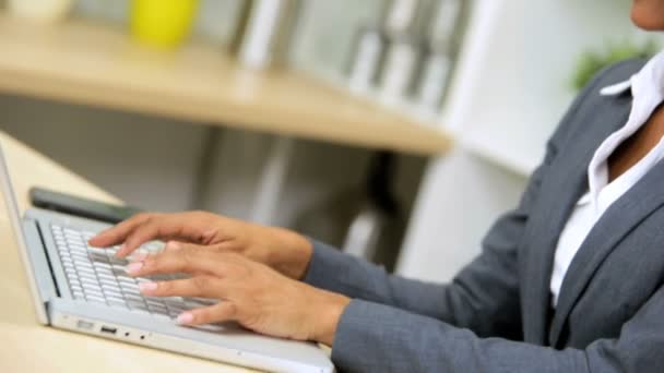 podnikatelka pomocí notebooku ant smartphone