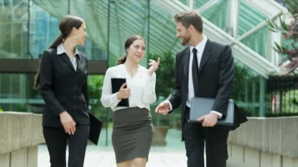 Business people walking outdoors