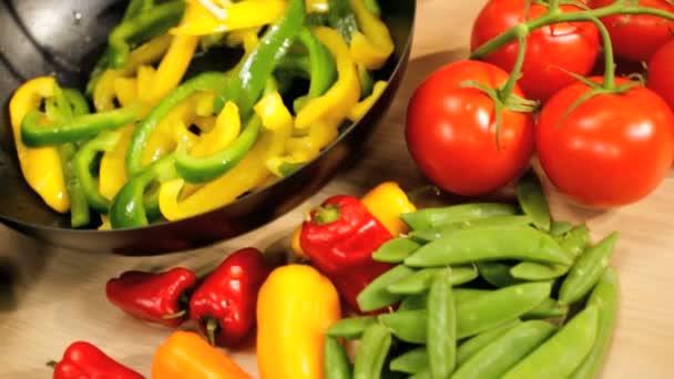čerstvé organické míchá smažená zelenina