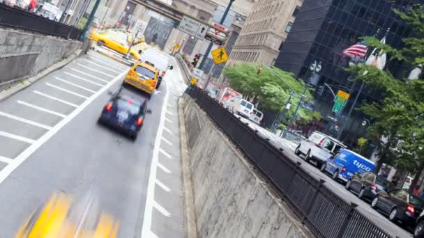 Yellow taxi cabs, New York, USA, time lapse