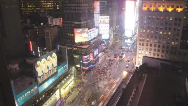 Times square, manhattan, new york, usa, časová prodleva