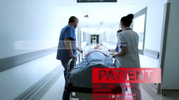 proyección médica gráfico de datos de la evaluación del paciente
