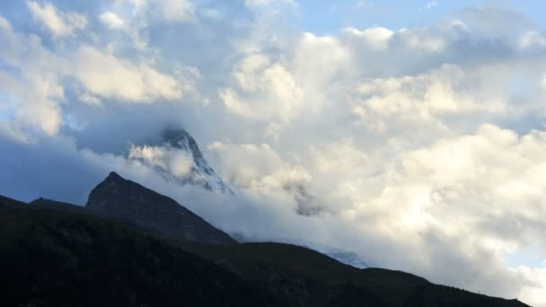 Cloudscape covered mountain slopes