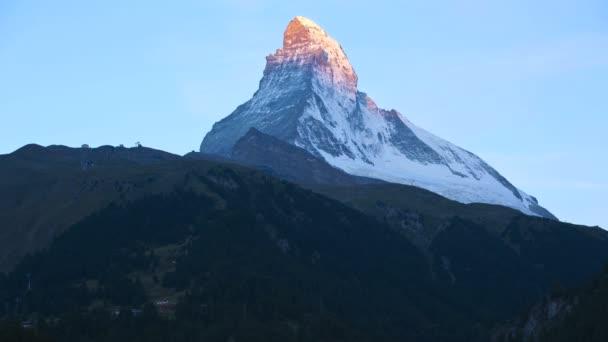 Sun rising on Matterhorn summit