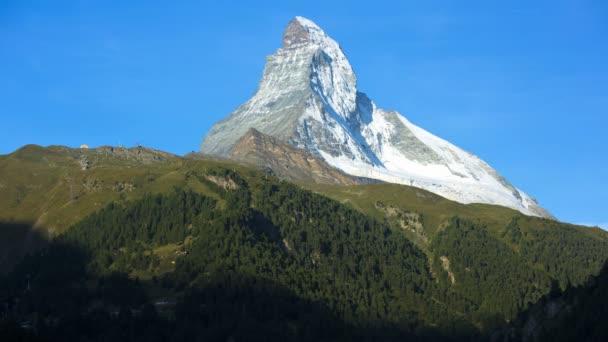 Morning view Matterhorn mountain Peak