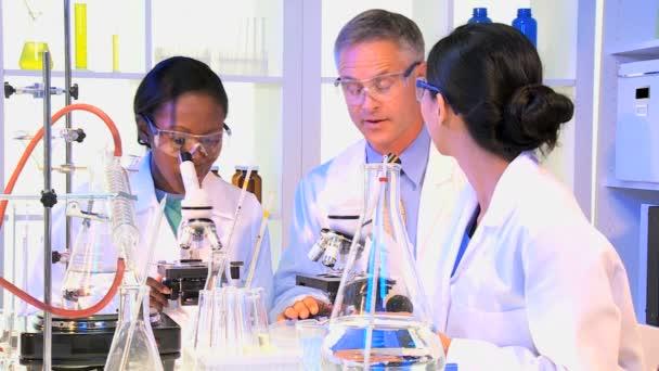 Medical Technicians using Laboratory Equipment
