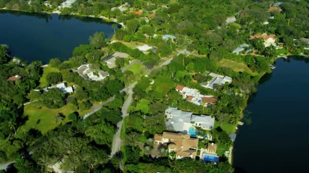 Aerial view exclusive  residential properties nr Miami
