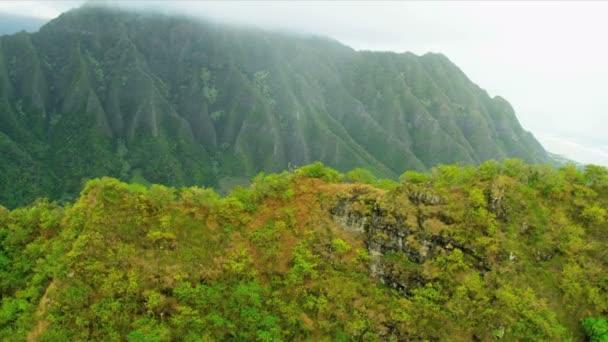 Légi táj kilátás gerincek vulkanikus láva, Hawaii