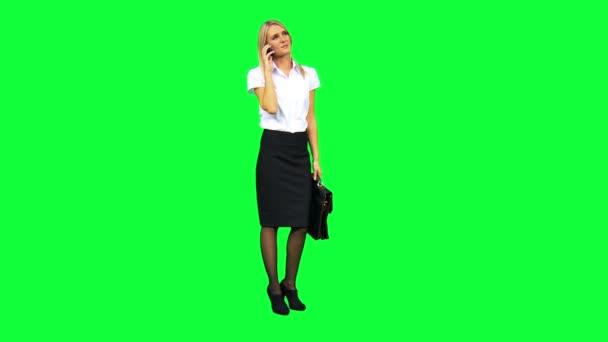 Caucasian Businesswoman with Smart Phone