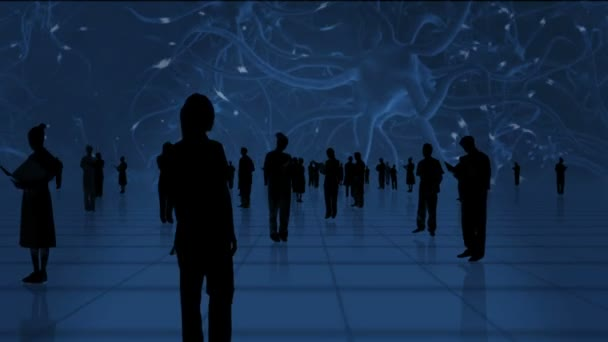 Medical healthcare professionals in silhouette