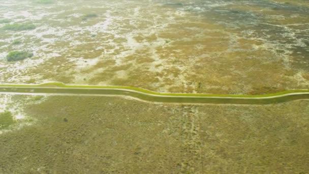 Letecký pohled na florida everglades bažiny, usa