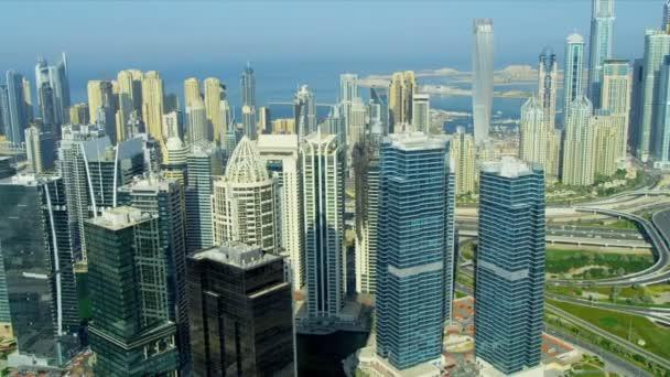 Aerial view of Jumeirah Lake Towers, Dubai