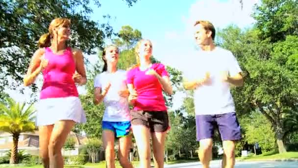 Candid teen girls jogging possible