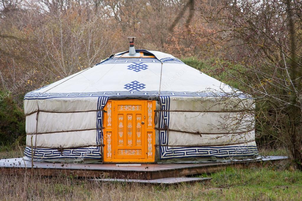 Yurt in a forest