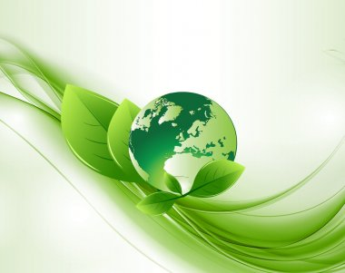 Green Abstract Ecology Globe Backround