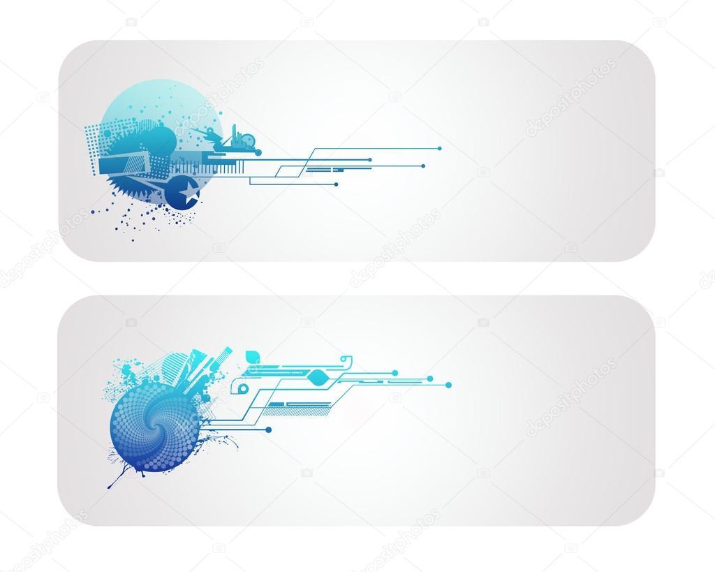 new technology vector banner