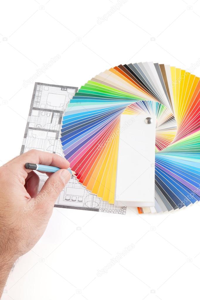 Guide De Palette De Couleur à Larchitecture De Dessin